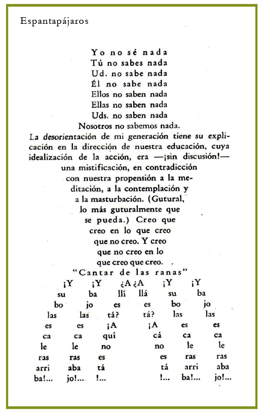 Oliverio Girondo, Espantapájaros, 1936