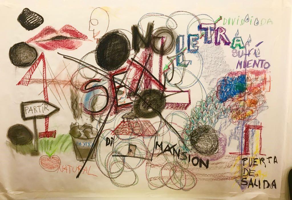 Dibujo, Conferencia Performática